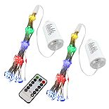 LumaBase Battery Operated Starburst Lights with Remote Control 2-pc. Set (Multicolor)