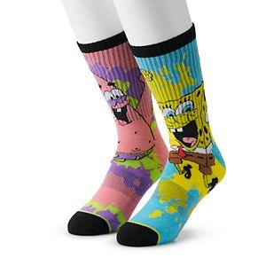 Men's SpongeBob Square Pants 2-Pack Crew Socks