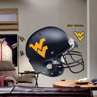 Fathead West Virginia University Mountaineers Helmet Wall Decal