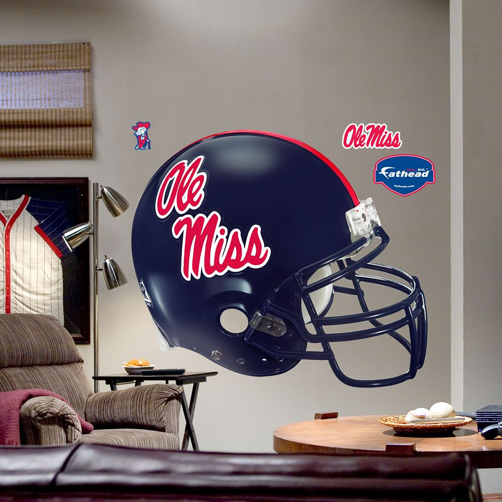 Fathead® University of Mississippi Rebels Helmet Wall Decal