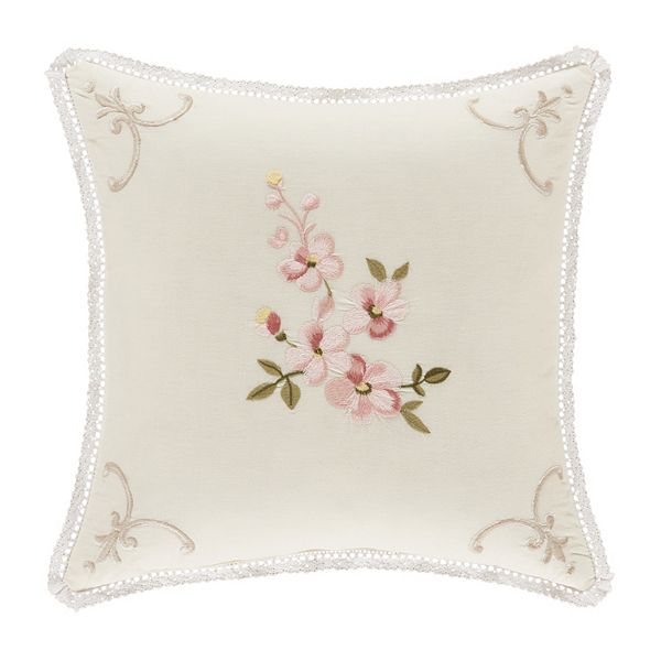 Five Queens Court Jocelyn Yellow Decorative Throw Pillow