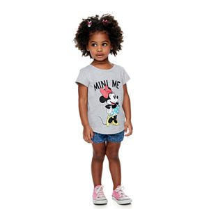"""Disney's Minnie Mouse Toddler Girl Mommy & Me """"Mini Me"""" Graphic Tee by Family Fun"""