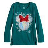 Disney Girls 4-12 Vented-Hem Graphic Tee by Jumping Beans®