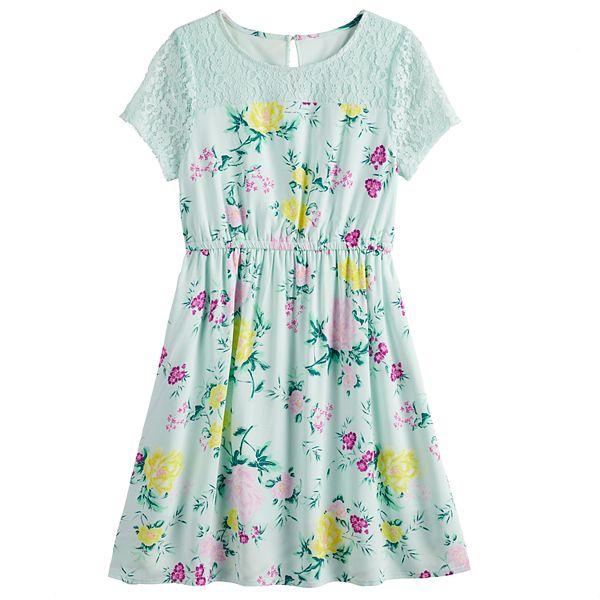 Girls 6-20 & Plus Size SO® Floral Lace Dress