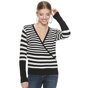 Women's Jennifer Lopez Ribbed Surplice Sweater