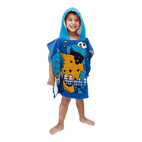 Sesame Street Cookie Monster Hooded Bath Poncho