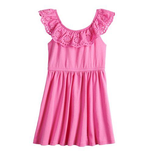 Toddler Girl Jumping Beans® Eyelet Ruffle Dress