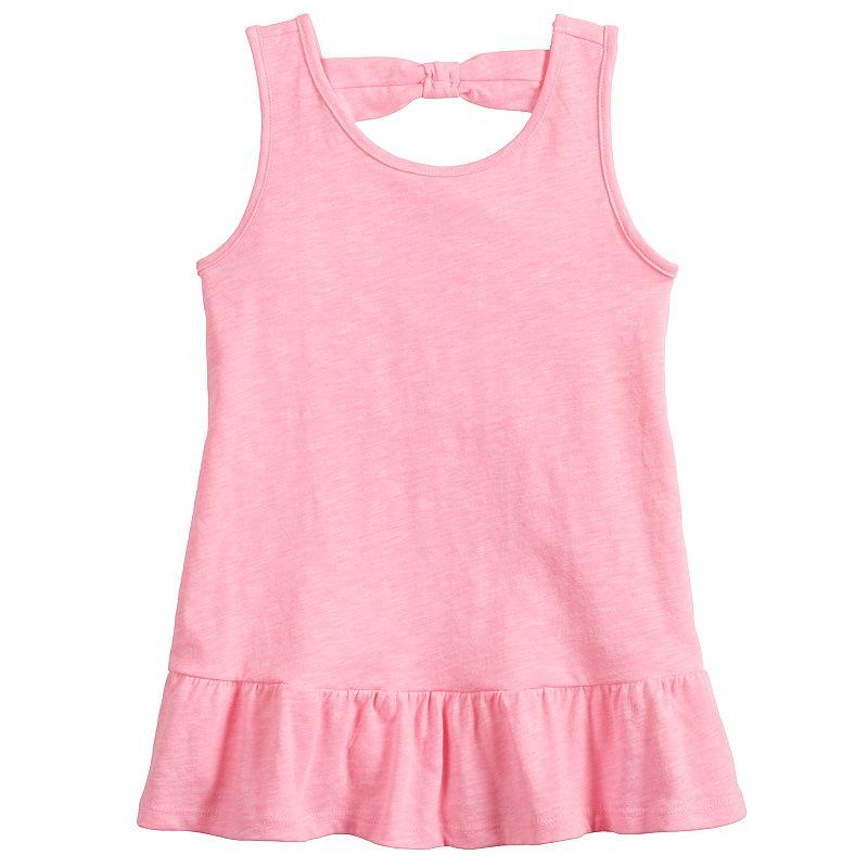 Toddler Girl Jumping Beans Bow-Back Peplum Tank, Toddler Girl's, Size: 3T, Med Pink