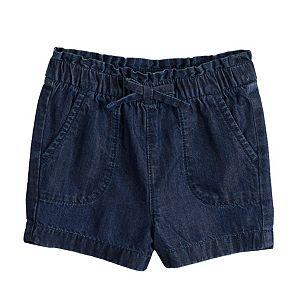 Toddler Girl Jumping Beans Paperbag-Waist Shorts