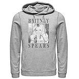Men's Britney Spears Portrait Panel Pullover Hoodie