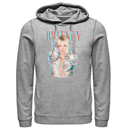 Men's Britney Spears Glitch Portrait Sweatshirt