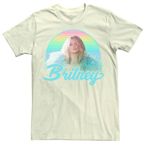 Men's Britney Spears Pastel Rainbow Portrait Tee