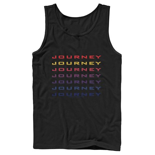 Men's Journey Colorful Word Stack Tank