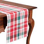 KAF HOME Madras Plaid Table Runner - 72""