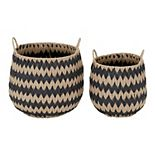 Household Essentials 2-piece Flame Stitch Basket Set