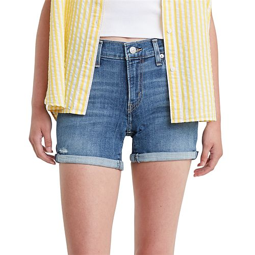 Levi's® Mid-Length Rolled Denim Shorts