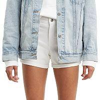 Levis Mid-Length Cuffed Jean Shorts Womens Deals