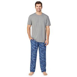 Men's Cuddl Duds Short Sleeve Crew and Pants Pajama Set