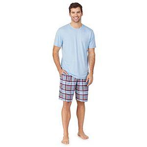 Men's Cuddl Duds© Short Sleeve Crew & Shorts Pajama Set