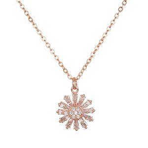 LC Lauren Conrad Baguette Flower Pendant Necklace