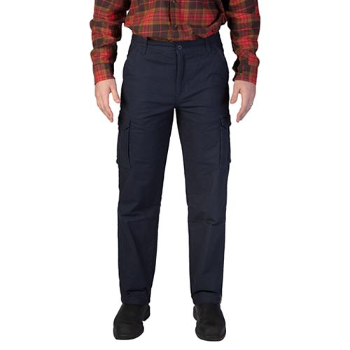 Men's Smith's Workwear Stretch Fleece-Lined Canvas Cargo Pant
