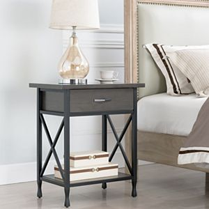 Leick Furniture Chisel and Forge Night Stand with Drawer