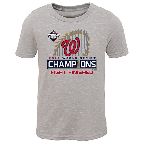 Boys 8-20 Washington Nationals 2019 World Series Champions Tee