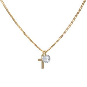 LC Lauren Conrad Short Cross Pendant Necklace