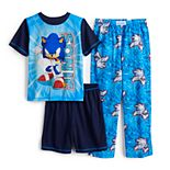 Boys 4-12 Sonic The Hedgehog 3-piece Pajama Set