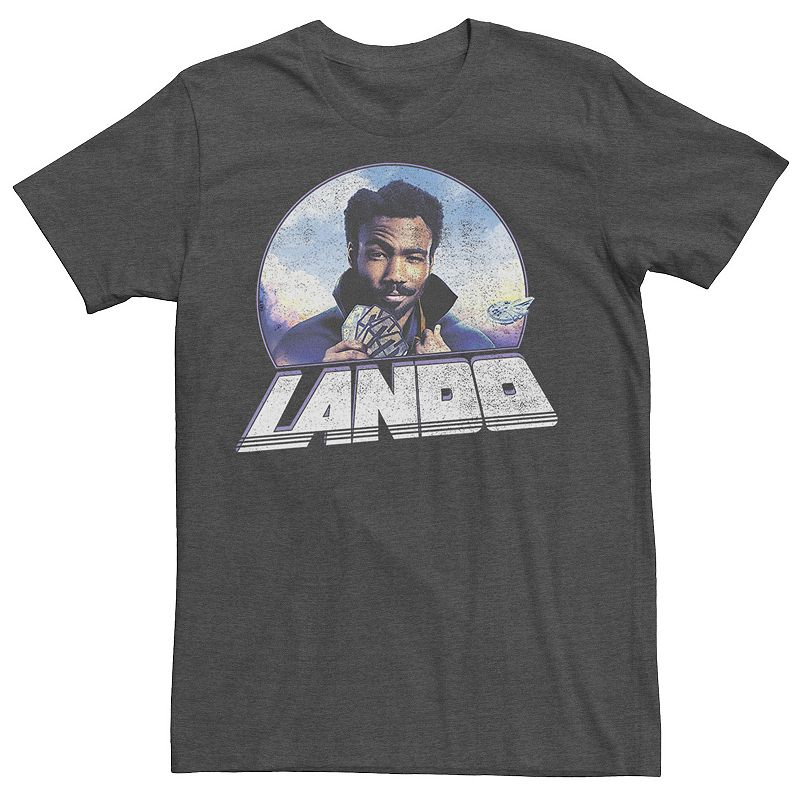 Men's Star Wars Young Men Star Wars Lando Profile Tee, Size: XXL, Dark Grey