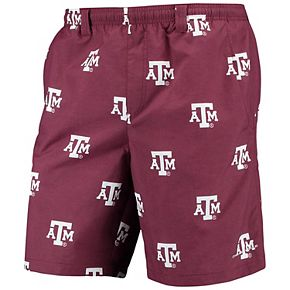 "Men's Columbia PFG Maroon Texas A&M Aggies Backcast II 8"" Omni-Shade Hybrid Shorts"