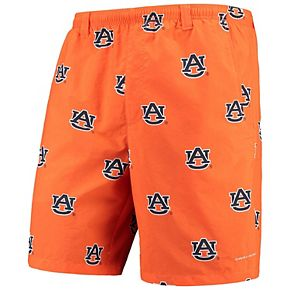 "Men's Columbia Orange Auburn Tigers PFG Backcast II 8"" Omni-Shade Team Hybrid Shorts"