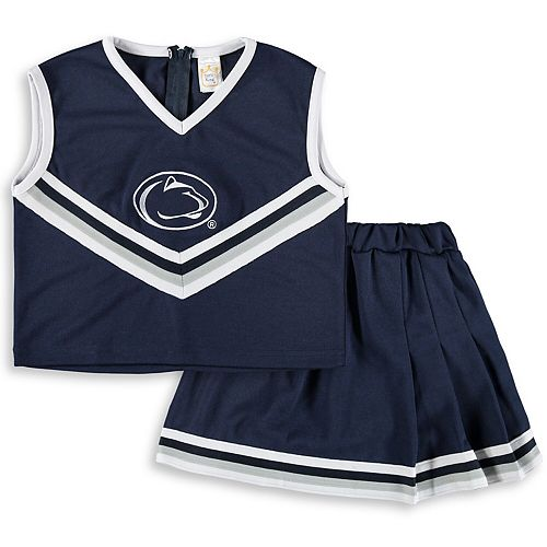 Girls Toddler Navy Penn State Nittany Lions Two-Piece Cheer Set