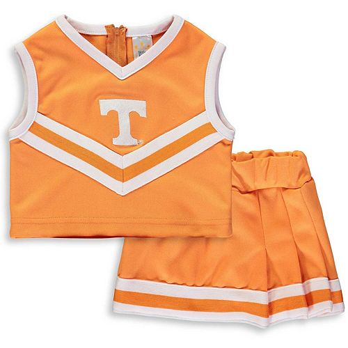 Girls Toddler Tennessee Orange Tennessee Volunteers Two-Piece Cheer Set