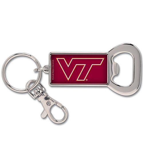 Virginia Tech Hokies Silvertone Bottle Opener Keychain