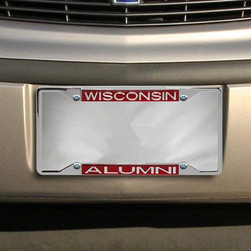 Wisconsin Badgers Alumni Chrome License Plate Frame
