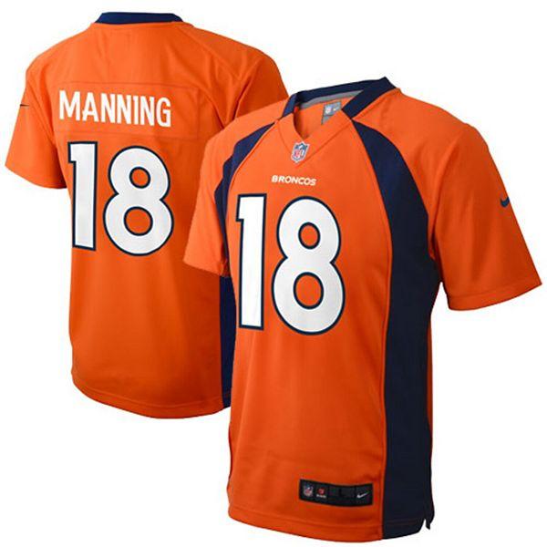 Preschool Denver Broncos Peyton Manning Nike Orange Game Jersey