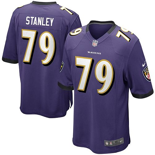 Men's Nike Ronnie Stanley Purple Baltimore Ravens Game Jersey