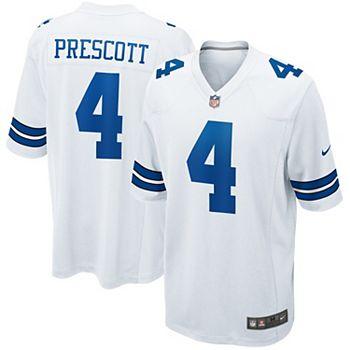 online retailer c779b 87c90 Men's Nike Dak Prescott White Dallas Cowboys Game Jersey