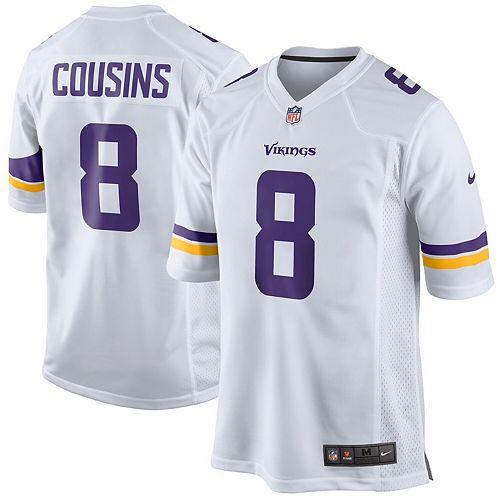 new styles 11442 8b6dc Men's Nike Kirk Cousins White Minnesota Vikings Game Jersey
