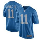 Men's Nike Marvin Jones Jr Blue Detroit Lions Throwback Game Jersey