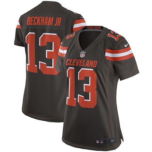 huge discount b98d1 25ba5 Women's Nike Odell Beckham Jr Brown Cleveland Browns Game Jersey