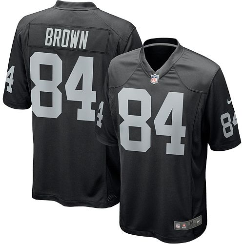 low priced 7d691 abf6a Men's Nike Antonio Brown Black Oakland Raiders Game Jersey
