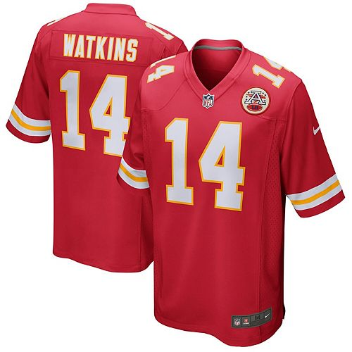 Men's Nike Sammy Watkins Red Kansas City Chiefs Game Jersey