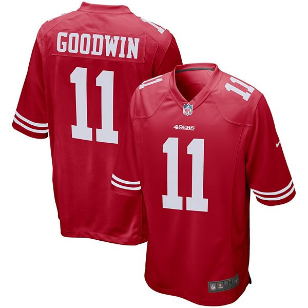 Men's Nike Marquise Goodwin Scarlet San Francisco 49ers Player Game Jersey