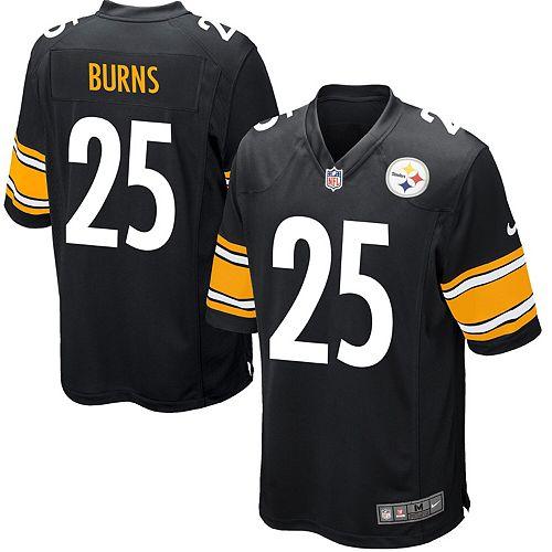 Men's Nike Artie Burns Black Pittsburgh Steelers Game Jersey