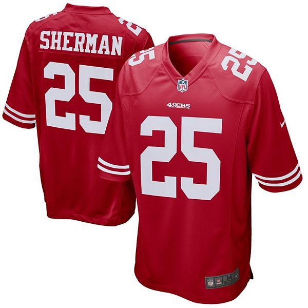 Men's Nike Richard Sherman Scarlet San Francisco 49ers Game Jersey