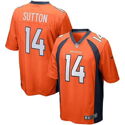 Men's Nike Courtland Sutton Orange Denver Broncos Game Jersey