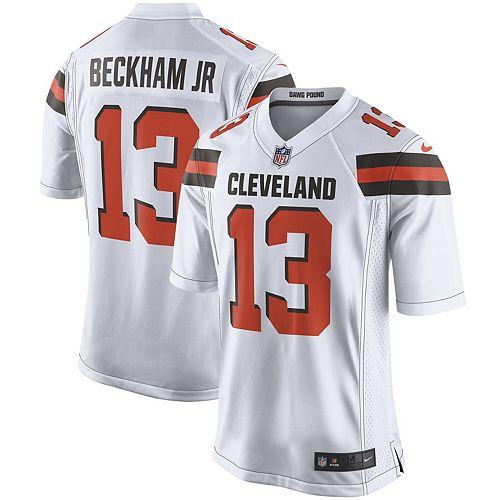 best website 1e537 b0c45 Men's Nike Odell Beckham Jr White Cleveland Browns Game ...