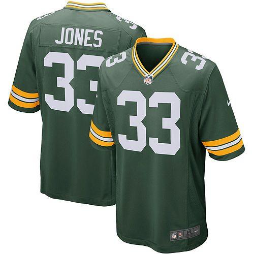 Men's Nike Aaron Jones Green Green Bay Packers Player Game Jersey